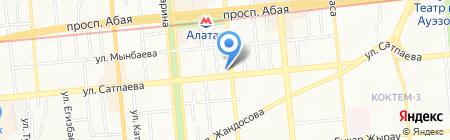 АЗС Sinooil на карте Алматы
