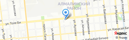 Алексеевские Кружева на карте Алматы