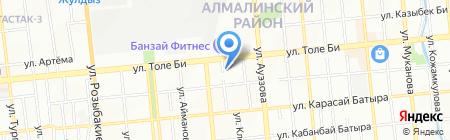 Тау-Комек на карте Алматы