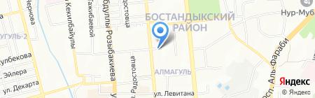 Нотариус Баякеева Р.О. на карте Алматы