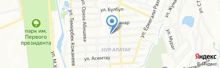 Нур Отан на карте Алатау