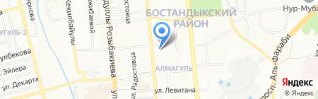 Осанна на карте Алматы