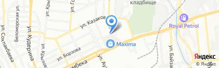 Алимхан на карте Алматы