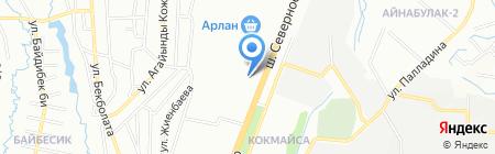 Достар Мед А на карте Алматы