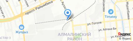 Эмин на карте Алматы