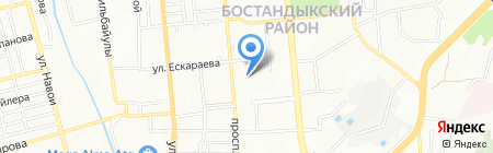 Ясли-сад №82 на карте Алматы