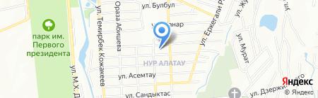 Сатти на карте Алатау