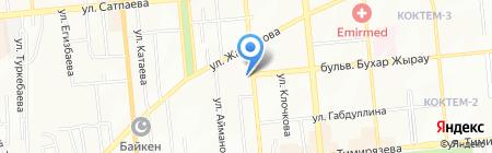 Япоша на карте Алматы