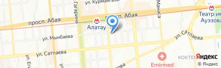 Кайрат на карте Алматы