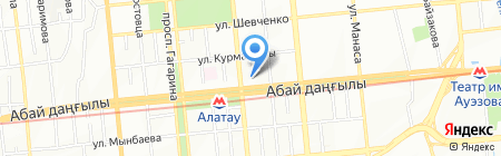 Агентство Республики Казахстан по статистике на карте Алматы