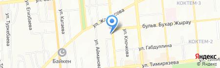 Санур на карте Алматы