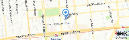 Лицей №134 на карте Алматы