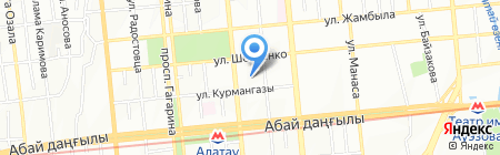 SET на карте Алматы