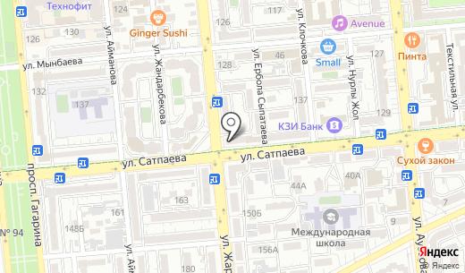 Назик. Схема проезда в Алматы