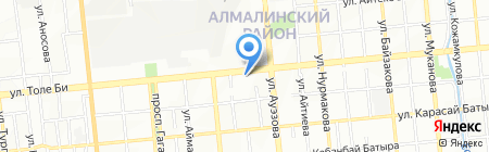 Восточный квартал на карте Алматы