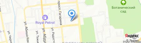 Адилер на карте Алматы