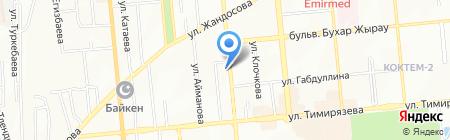 Великан на карте Алматы