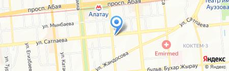 Елимай на карте Алматы