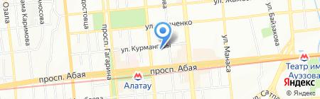 Участковый пункт полиции №14 Алмалинского района на карте Алматы
