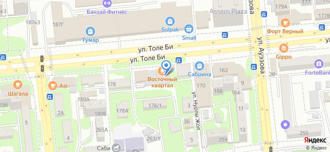 Казахстан, Алматы, улица Толе Би 174, уг. ул. Ауезова