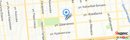 Наси на карте Алматы