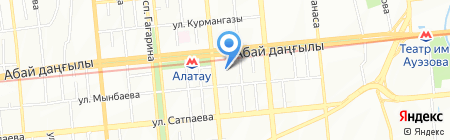 Олжа продуктовый магазин на карте Алматы