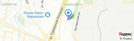 Бубухан на карте Алматы