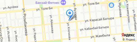 Евлина на карте Алматы