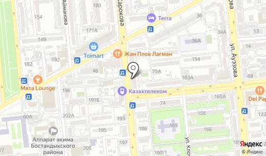 SAMAL. Схема проезда в Алматы