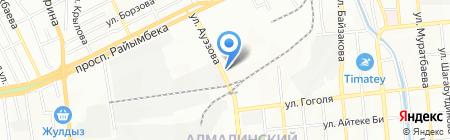 Алматытемир на карте Алматы