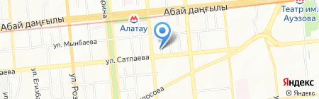 Куаныш продовольственный магазин на карте Алматы