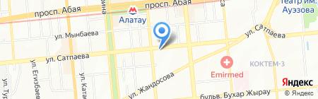 Дайвер на карте Алматы