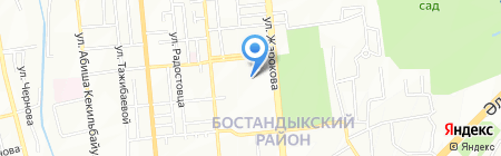 Ясли-сад №91 на карте Алматы