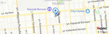 Даната на карте Алматы