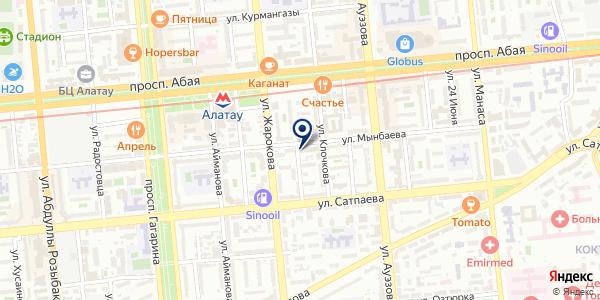 БЕГЕМОТ на карте Алматы