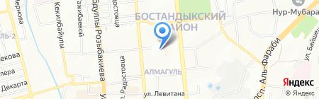 Центр обслуживания населения Бостандыкского района г. Алматы на карте Алматы