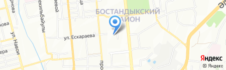 Нотариус Естаулетова А.М. на карте Алматы