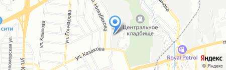 Строительные конструкции и механизмы на карте Алматы