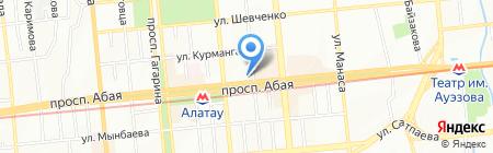 Жанна на карте Алматы