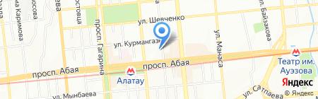 Дентасервислюкс на карте Алматы