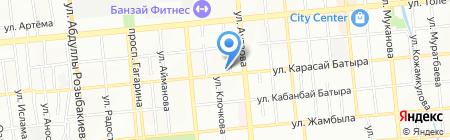 Нотариус Байбаракова С.А. на карте Алматы