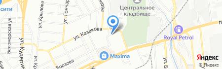 Наз-Нур на карте Алматы