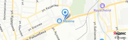 Шиномонтажная мастерская на проспекте Райымбека на карте Алматы