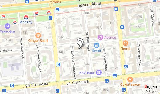 Софт. Схема проезда в Алматы