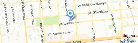 Тайфун на карте Алматы