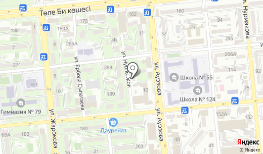 Unique. Схема проезда в Алматы