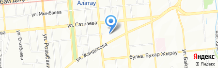 Арай текстиль на карте Алматы