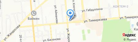 Ерке Даурен на карте Алматы