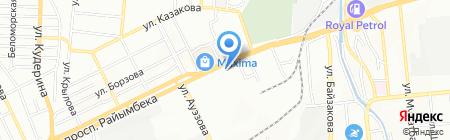 Акжолтай Омир на карте Алматы