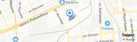 The Rose на карте Алматы